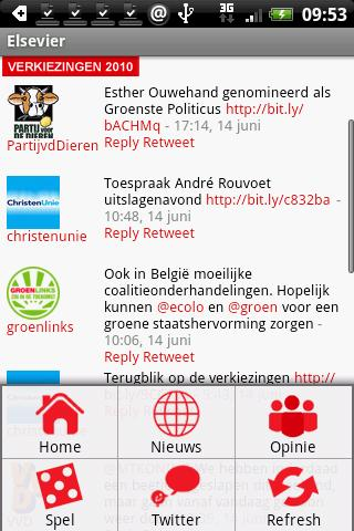 elsevier-nl for android screenshot