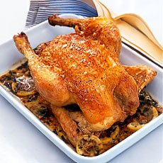 Fast-roast Chicken with Lemon and Tarragon