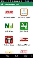 Screenshot of Nigeria Newspapers