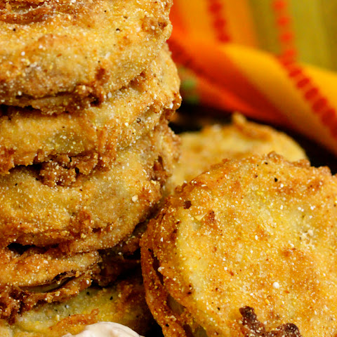 Fried Green Tomatoes with Garlic, Bacon Buttermilk Sauce