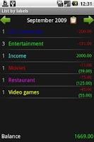 Screenshot of Budgetroid