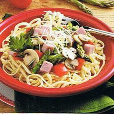 Ham and Asparagus Linguine