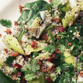 Speckled Salad with Quinoa, Leek, Bacon, & Chervil from 'Home Made Winter'