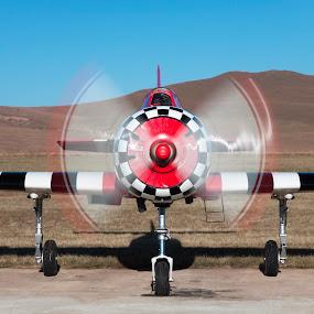 Yak 52....warm up by Simon Joubert - Transportation Airplanes