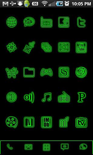 GloWorks Lime ADW Theme
