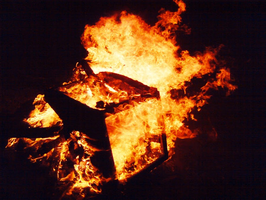 Fire cube by Bogdan Penkovsky - Abstract Fire & Fireworks ( red, firecube, glowing, in the dark, fire )