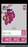 Screenshot of GO SMS THEME/hawaiiantropic
