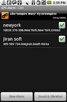 Screenshot of GPS Alarm