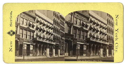 """View on Broadway, New York,"" ca. 1875"