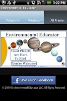 Screenshot of Environmental Educator