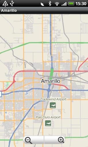 Amarillo Street Map