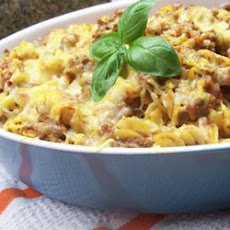 Cheesy Beef And Tomato Pasta