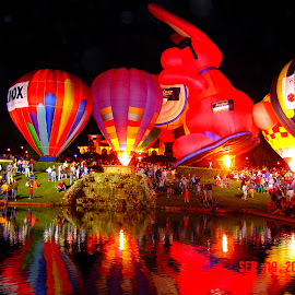 Balloon Glow by Sprang Publishing - News & Events Entertainment ( great american balloon race, forest park, saint louis missouri, balloon glow, balloon race )