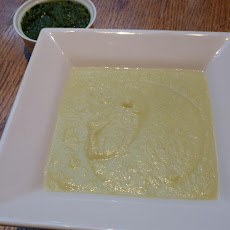 Curried Cauliflower Soup with Chimichurri Sauce