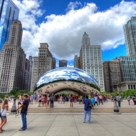 The Bean! by Sean Price - City,  Street & Park  City Parks ( park, hdr, bean, millennium, wide angle, chicago )