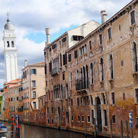 white leaning tower of venice by Almas Bavcic - City,  Street & Park  Historic Districts