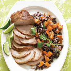 Roasted Pork Loin with Black-Bean and Sweet-Potato Salad