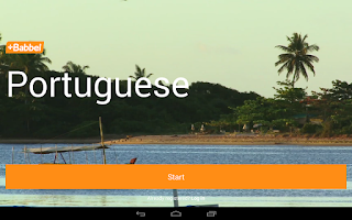 Screenshot of Learn Portuguese with Babbel