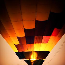 Balloon by Taylor Sanderson - Transportation Other ( hot air balloon, sunset, travel, balloon, hot air balloons )