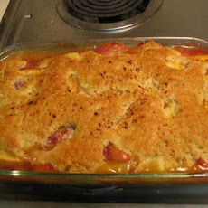 Grandmother's Fresh Peach Cobbler