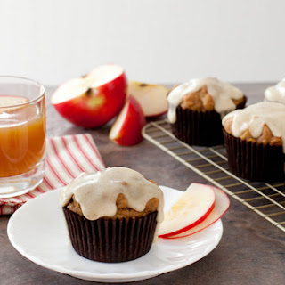 Apple Cider Muffins with Browned Butter Glaze