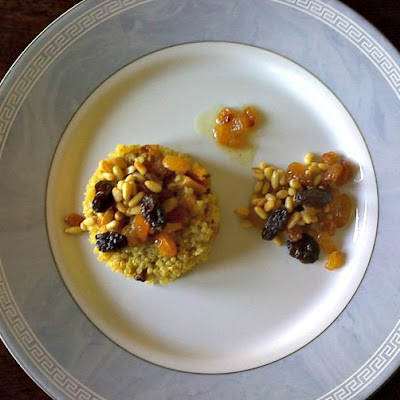Curry Quinoa Pilaf with Roasted Butternut Squash and Raisin Mix