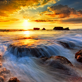Chrysalis by Hendri Suhandi - Landscapes Waterscapes ( bali, sunset, melasti, beach )