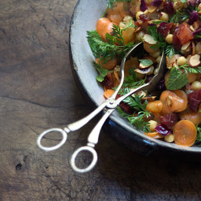 Moroccan Carrot and Chickpea Salad