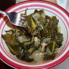 Bacon and Brown Sugar-Braised Collard Greens
