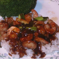 Honey Ginger Shrimp Stir-fry