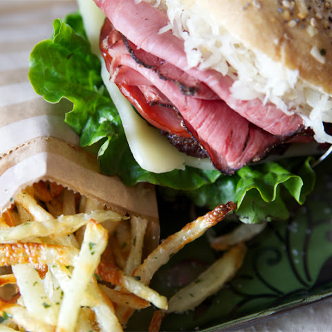 Mouth Watering Reuben Burger