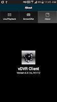Screenshot of vDVR CLIENT (v3.2.1.6)
