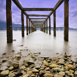 Under The Taipa Pier by Hajar Wisnu Dwiputra - Buildings & Architecture Bridges & Suspended Structures