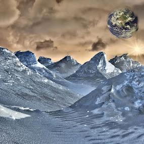 Alien Earth by Glenn Visser - Digital Art Abstract ( planet, alien, earth )