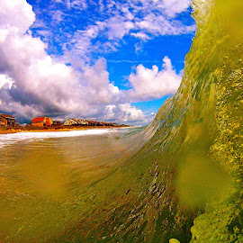 Close up of wave surfing by Tyrell Heaton - Instagram & Mobile Other ( gopro, wave, ocean, beach, surf )