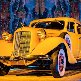 Goldne Rolls by Vibeke Friis - Transportation Automobiles ( rolls royce, yellow, antique cars, classic, golden,  )