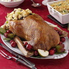 Roast Goose with Apple-Raisin Stuffing