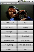 Screenshot of James Brown Soundboard