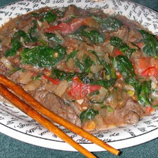 Vietnamese Style Pepper Beef and Spinach