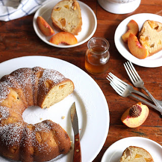 Peach Maple Bundt Cake