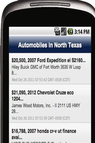 Automobiles in North Texas