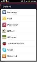 Screenshot of Post Ticker