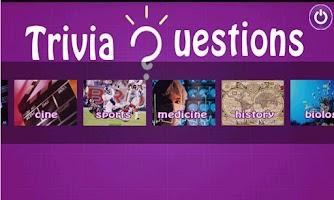 Screenshot of Trivia questions