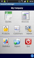 Screenshot of Quotes and Invoices Manager