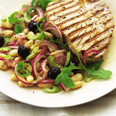 Seared Tuna With Bean And Olive Salad