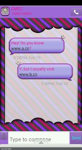 Candy/GO SMS THEME - screenshot
