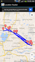Screenshot of Mobile Location Tracker