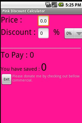 Discount Calculator in Pink