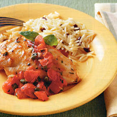 Summer Chicken Sauté with Tomato-Basil Sauce