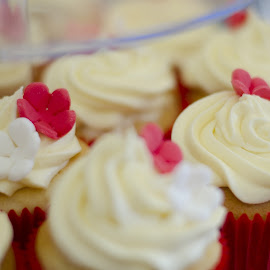 Cup Cakes by BK Roberts - Food & Drink Cooking & Baking ( cup cakes, red, white )